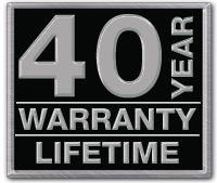 40 year warranty lifetime